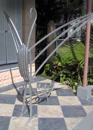 photo of stainless steel bird