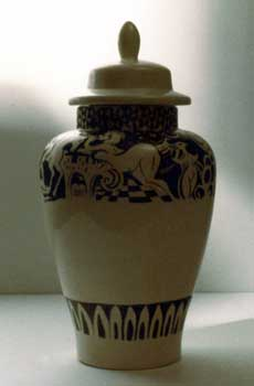 photo of mythic Chinese vase